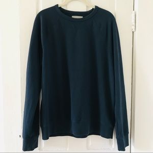 Everlane Navy Blue Classic Pullover Sweatshirt Med